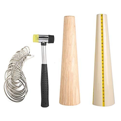 Mandril de madera para pulsera, portátil, práctica, reparación, 4 piezas, mandril para hacer joyas, reparación para herramientas de procesamiento y medición