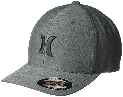 Hurley Men's Textures Hat, Black/Black/Black, S-M