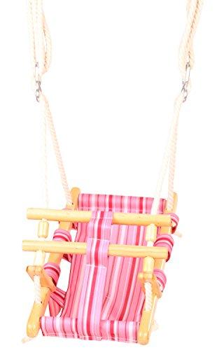 Götz 3402857 Puppenschaukel Engelchen - Zubehör für Babypuppen und Stehpuppen Aller Größen von 27 bis 50 cm - leichtes aufhängen durch Schaukelseile