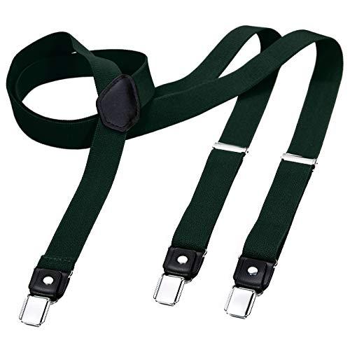 DonDon tirantes estrechos 2,5 cm para hombres con 3x clips en forma de Y - elástico y longitud ajustable - diferentes estilos