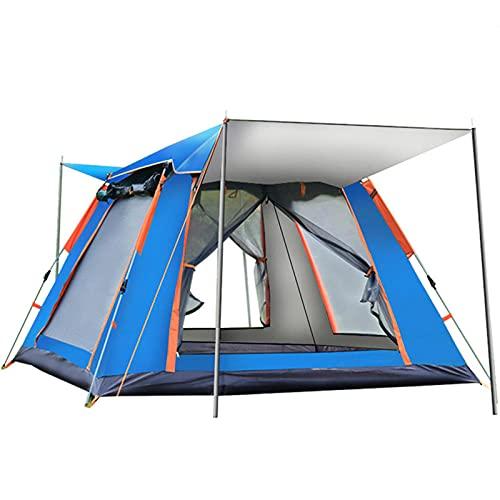 HMSLINCK Camping Im Freien Vollautomatische Geschwindigkeit Open Beach Camping Regenfestes Sonnenschutzzelt Mehrpersonen-Camping-Blau_215*215 * 142Cm