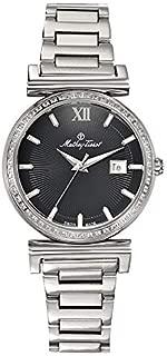 Mathey Tissot Elegance Women's Black Dial Stainless Steel Band Watch - D410aQN