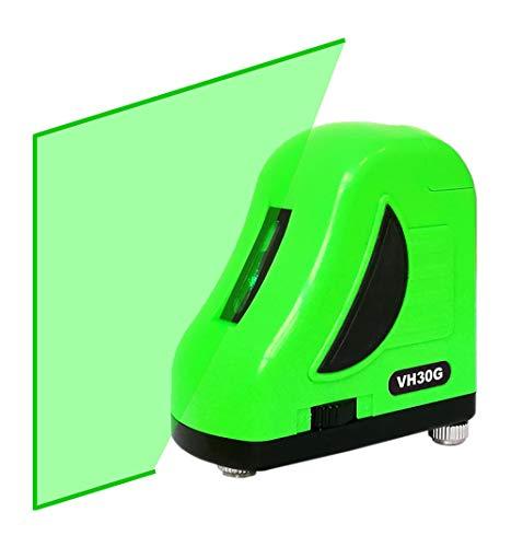 Danpon レーザー墨出し器 グリーン垂直ライン1本 高輝度 緑色 自動調整機能 小型 出射角120°以上 非球面ガラスレンズ採用 VH-30G (緑)
