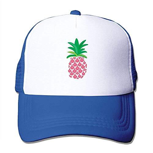 daawqee Baseball Caps Hats Adult Pink Pineapple Mesh Football Visor Cap Black Personality Caps Hats
