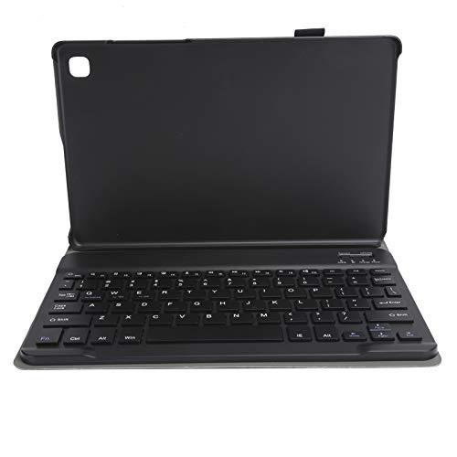 Vbestlife Teclado Bluetooth inalámbrico Desmontable para Tableta con Soporte de Funda de Cuero PU para Samsung Galaxy Tab A7 T500 / T505 10.4in(Negro)