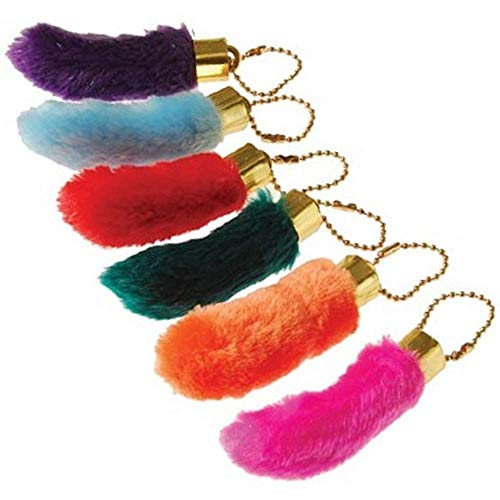 ArtCreativity Fake Rabbit's Foot Keychains, Pack of 12, Birthday Party Supplies, Party Favors, Goodie Bag Fillers, Prize for Boys and Girls