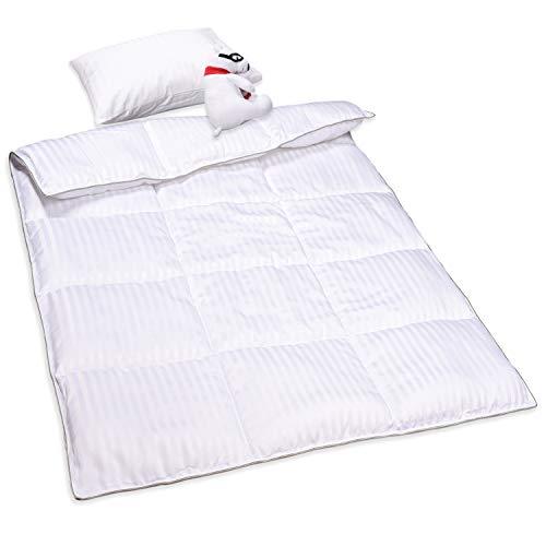 ZPECC Kind-Kleinkind-Decke - 100 x 120cm Breathable Ineinander greifen Kühl Tröster für Jungen und Mädchen, ultraweiche Leichte Baby-Quilt für Krippe Bett, maschinenwaschbar, weiße Streifen