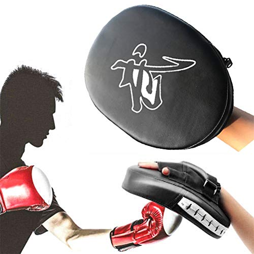 Lidylinashop Guanti Boxe Colpitori Boxe Boxing Training Equipment Focus Mitts Focus Pads PU Leather Boxing Pads Kick Pads Martial Arts Boxing Accessories Black,Freesize