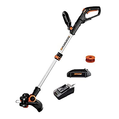 "Worx WG163.8 GT 3.0 20V PowerShare 12"" Cordless String Trimmer & Edger, 12in, 1 Battery and Quick Charger Included"