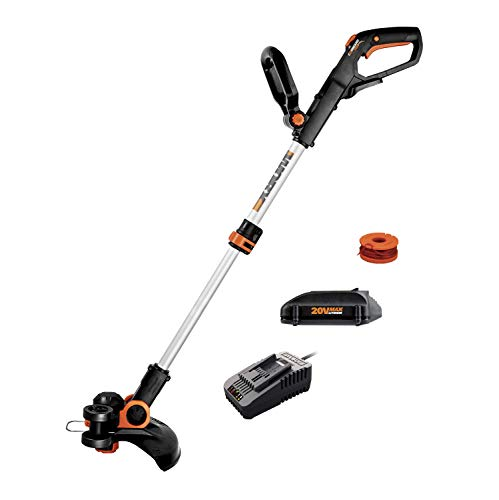 Worx WG163.8 GT 3.0 20V PowerShare 12' Cordless String Trimmer & Edger, 12in, 1 Battery and Quick Charger Included