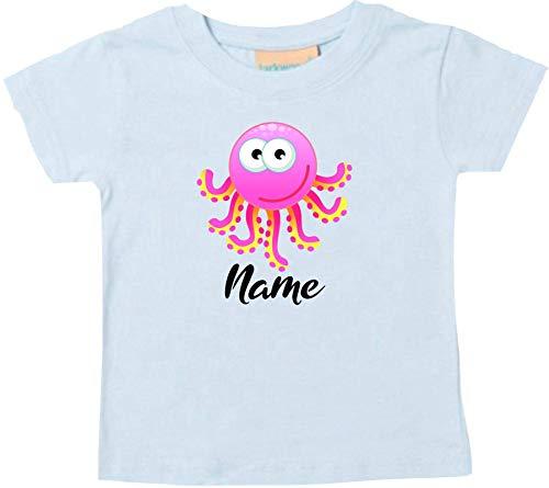 Shirtstown Bébé Kids-T, Pieuvre Oktopusmit Nom Souhaité Animal Animal Nature - Marine, 24-36 Monate