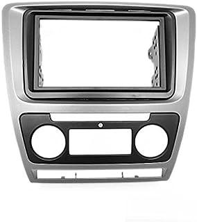 carav 11 258 Doppel DIN Autoradio Radioblende DVD Dash Installation Kit für Octavia 2008–2013 (Auto Klimaanlage) grau Faszie mit 173 * 98 mm und 178 * 100 mm