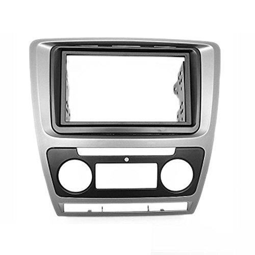 carav 11-258 Doppel DIN Autoradio Radioblende DVD Dash Installation Kit für Octavia 2008–2013 (Auto Klimaanlage) grau Faszie mit 173 * 98 mm und 178 * 100 mm