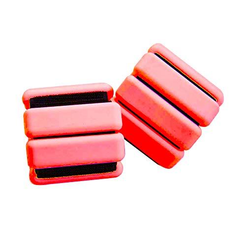 Learnarmy - 2 anillos ajustables para el tobillo (850 gramos por tobillo) para fortalecer el ejercicio físico, caminar, trotar y gimnasia (rojo)