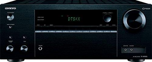 Onkyo TX-NR555 (B) 7.2-Kanal-A/V-Netzwerk-Receiver (130 W/Kanal,DTS: X aufrüstbar, Dolby Atmos, AirPlay, 384 kHz/32-Bit D/A-Wandler, 6 HDMI-Eingänge/1 Ausgang) schwarz