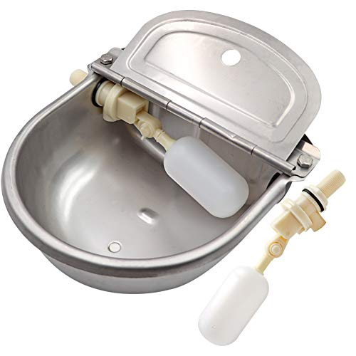 M.Z.A Abbeveratoio per abbeveratoi per bovini Abbeveratoio per abbeveraggio automatico in acciaio inossidabile con valvola a galleggiante per cane Cavallo per bovini Capra Pecora