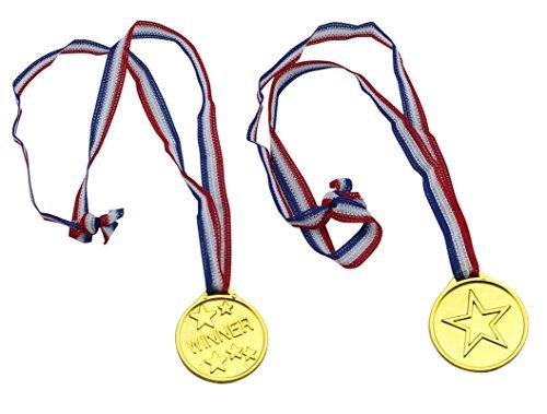 Fontee Medaglie d'oro, 24Pcs Winners Medaglie Regalini per Feste Ricompensa Bambini