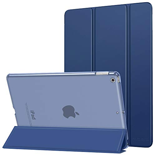 MoKo Case Fit New iPad 7th Generation 10.2' 2019 / iPad 10.2 Case - Slim Lightweight Smart Shell Stand Cover with Translucent Frosted Back Protector for iPad 10.2 2019, Navy Blue(Auto Wake/Sleep)