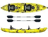 ATLANTIS Kayak-Canoa 2 posti Enterprise Gialla cm 370-2 gavoni - 2 seggiolino - 2 pagaie - 2 portacanne
