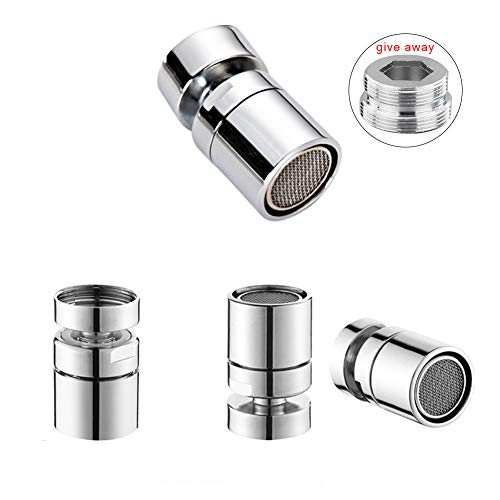 Bretoes 360°Multi-Function Double-Flow Bathroom Kitchen Sink Rotating Faucet Spray Aerator Water Saving Device 55/64 Inch - 27UNS Female Thread (style2)