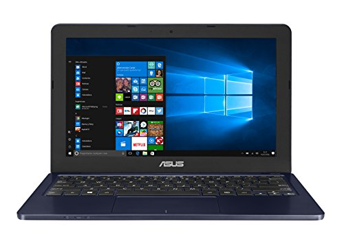 Asus E202SA-FD0076T - Portatil de 11.6' HD (Procesador Intel Celeron N3060, 4 GB de RAM, Disco Duro de 500GB, Intel HD Graphics 400, Windows 10) Teclado QWERTY español - Azul Oscuro