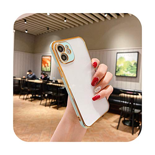 Funda protectora para iPhone 12 Pro 11 Pro Max XR XS Max X 7 8 Plus 12Mini SE2 mate transparente cubierta-T6-para iPhone 11Pro