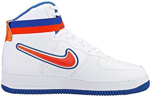 Nike Herren Air Force 1 High '07 Lv8 Sport Fitnessschuhe, Mehrfarbig (White/Team Orange/Game Royal 100), 40 EU