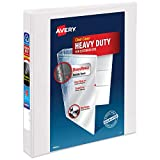 Avery Heavy Duty View 3 Ring Binder,1' One Touch Slant Ring, Holds 8.5' x 11' Paper, 1 White Binder (79799)