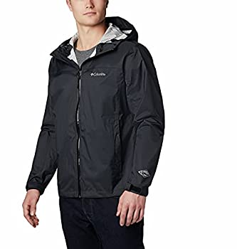 Columbia Men s EvaPOURation Rain Jacket Waterproof and Breathable- Black Large