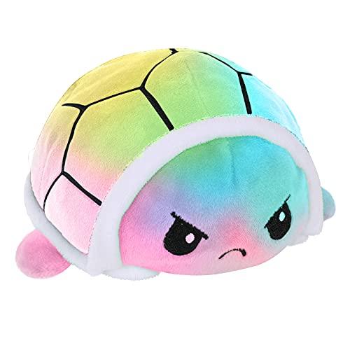 Entre nosotros juguetes de felpa reversibles, suave doble cara con tirón reversible de peluche Plushies regalos de muñeca para fans del juego regalos de compañero de niños (tortuga reversible)