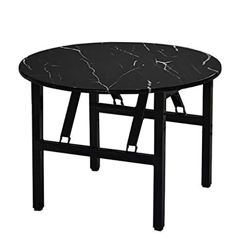 Mesa plegable, mesa redonda de comedor, mesa de café, mesa de estudio, mesa de picnic portátil, 49 cm de alto, 5 colores (color: A, tamaño: 70 cm)