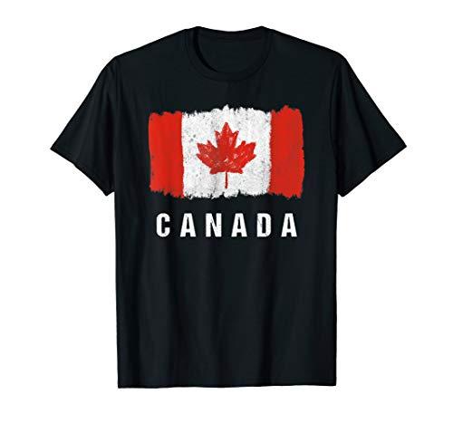 Gemalte Kanada Fahne / Kanadische Flagge Fan Geschenk T-Shirt