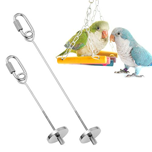 AKlamater Papageien-Spieß, 2 Stück Edelstahl Vogel Lebensmittelhalter Obst Gemüse Halter Futtersuche Spielzeug Sittiche für Papageien