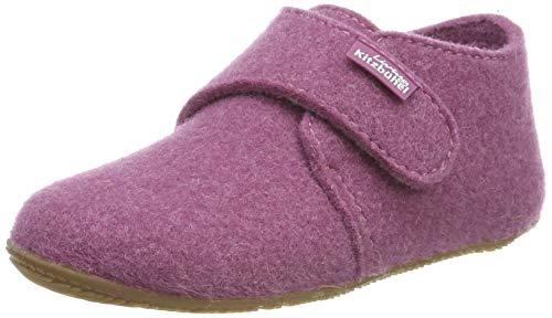 Living Kitzbühel Unisex Kinder Babyklettschuh Filz unifarben Hausschuhe, Pink (iris 0371), 26 EU