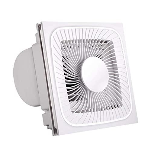 Extractor De Baño, Baño Extractor Ventilador, Extractor de cocina Ventilador ventilador Ventilador Liangba Cocina Baño Ventilador de alta potencia Blanco Ventilador de escape multifuncional