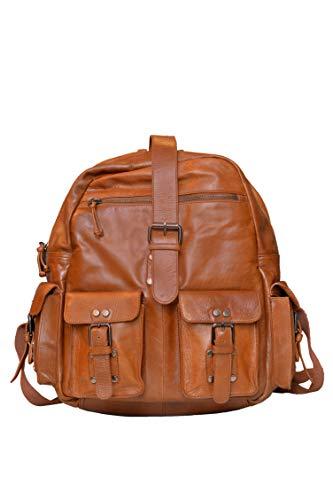 Leather Bag   Mens Shoulder Bag   Handmade Bag   Backpack   Leather School Bag   Classic Leather Bag (Tan Brown)