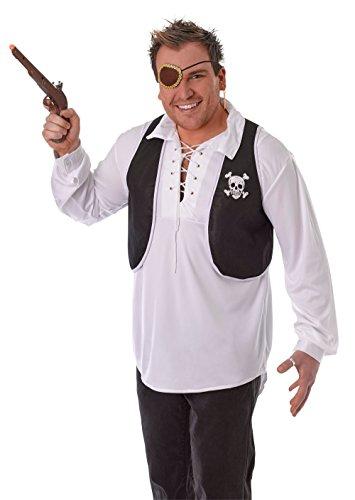 Bristol Novelty BA151 Pirat vest, heren, zwart, eenheidsmaat