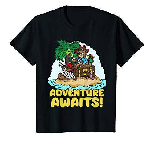Nios Adventure Awaits - Divertido oso de peluche Piratas Nios Camiseta