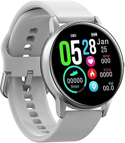 reloj inteligente reloj inteligente IP68 podómetro de ejercicio impermeable súper larga continuación para hombre y mujeres-cinta adhesiva_Silver