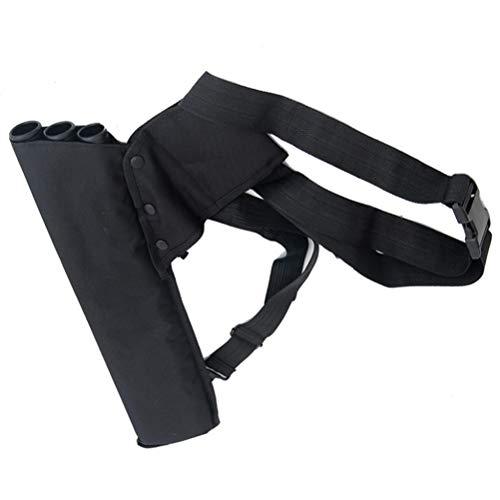 LIOOBO Tiro con Arco Atrás Camuflaje Flechas Cinturón de aljaba Bolsa de Flecha colgada 3-Tubos Cinturón de aljaba de Cadera Ajustable Cinturón para Caza - (Negro)
