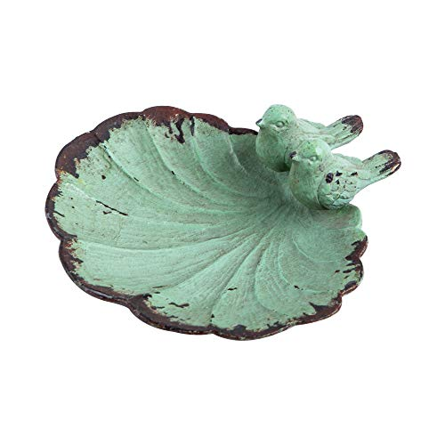 NIKKY HOME Ring Holder Bird Jewelry Dish Vintage Trinket Tray Decorative Shabby Chic Display Organizer Plate Bowl for Necklace Earring Bracelet Ring Home Handmade Gift for Women Girl  Aqua Birds