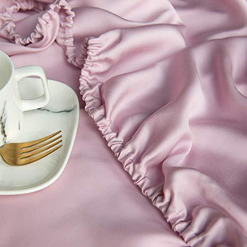 Generieke hoeslaken zijde, eenkleurig koele zijde bedlakens Single Double voor slaapkamer enkele stuksk 1,5 Mt1,8 Mt
