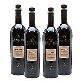 Vino Pedro Ximenez Nectar de 75 cl - D.O. Jerez de la Frontera - Bodega Gonzalez Byass (Pack de 4 botellas)