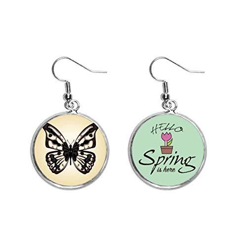 Ejemplar de mariposa en decoración pálida colgante temporada primavera pendiente joyería