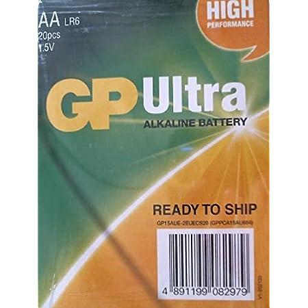 GP Ultra Alkaline Battery , AA LR6 1.5V , 20 pcs
