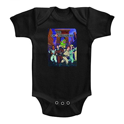 American Classics Le vrai ghostbusters affiche de la série télé pause enfant ish snapsuit pour Bébé garçon 12 mois Noir