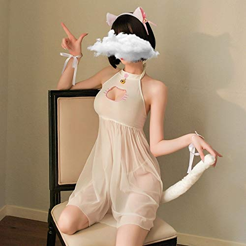 YINSHENG Erwachsene erotische Anzüge Strümpfe Unterwäsche Oberschenkelsocken Unterwäsche Kostüm Stirnband Cosplay Katze Uniform Pyjama Japanische süße sexy Unterwäsche Dienstmädchen Kleidun