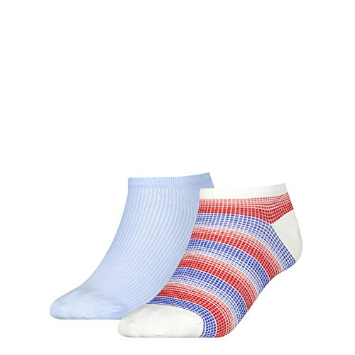 Tommy Hilfiger Womens Madras Check Sneaker-Trainer Women's (2 Pack) Socks, Tommy original, 35/38