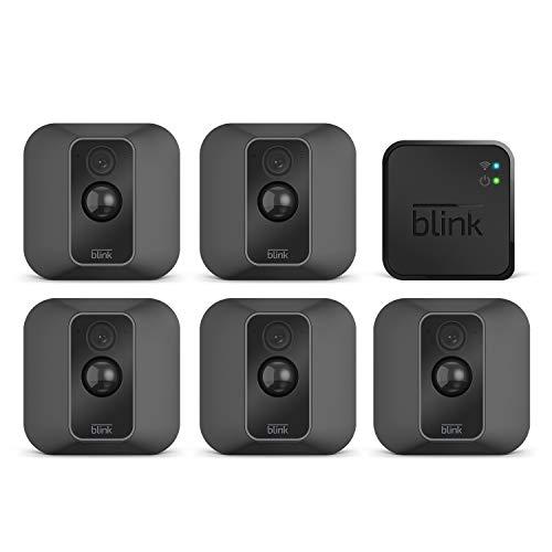 Blink XT2 (Seconda Generazione) | Telecamera di sicurezza per interni/esterni con archiviazione sul cloud, audio bidirezionale, autonomia di 2 anni | Sistema a 5 telecamere