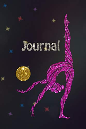 Journal: Rhythmic Gymnastics Sparkly Gymnast Mini Journal Notebook, 100 pages-50 sheets, compact size: 6x9